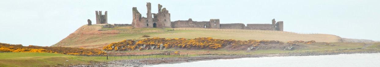 Dunstanburgh castle Northumberland England