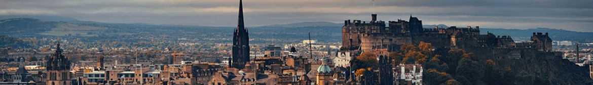 Edinburgh city skyline viewed from Calton Hill